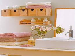 Bathroom Storage Bins by Gray Wall Paint Mirror With Wooden Frame Hanging Storage Bin