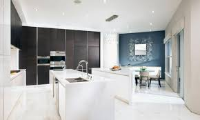 White Kitchen Cabinets With Black Island by Modern Design Kitchen Cabinets White Metal Frame Chairs Black