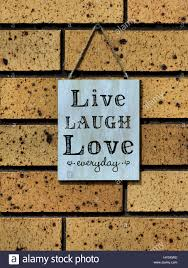 live laugh love signs wall sign saying u0027live laugh love everyday u0027 stock photo royalty