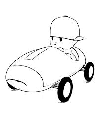 pocoyo car racer coloring color luna
