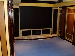 Building A Home Theater Curved Front Stage And Stair Step - Home theater stage design