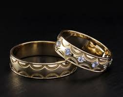 Couple Wedding Rings by Heartbeat Wedding Bands His And Hers Band Couple Promise