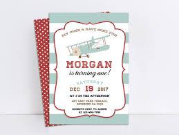 Invite Birthday Card Airplane Invitation Airplane Birthday Airplane Party Airplane