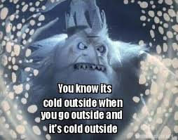 Cold Outside Meme - meme creator you know its cold outside when you go outside and