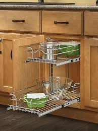cabinet pull out shelves kitchen pantry storage amazon com rev a shelf 5wb2 0918 cr base cabinet pullout 2 tier