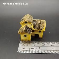 micro cottage stone house model miniature craft micro cottage building toy diy