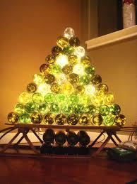 wine bottle christmas tree christmas lights decoration