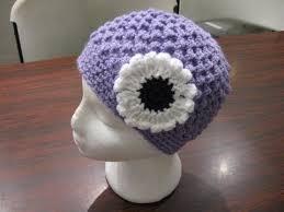Móc mũ len đính hoa xinh tươi