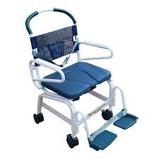 mor medical euro style rehab shower chair commode aluminum