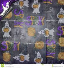 halloween background ghosts simple folded torn halloween background ghosts pumpkins stock