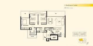 Residence Floor Plans 3 Bedroom Suite Dukes Residences