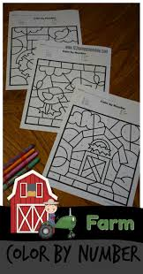 kindergarten worksheets and games free farm color by number