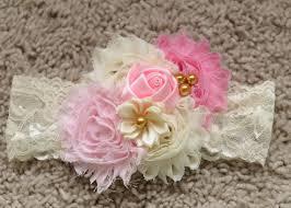 baby bows pink headband baby headband baby girl headband newborn headband