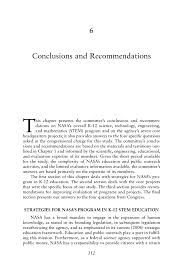 how to write critique paper 6 conclusions and recommendations nasa s elementary and page 112