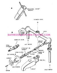 Bathroom Shower Parts Two Or Three Handle Bath Tub Shower Faucet Repair Ordinary