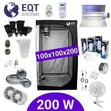 chambre de culture 100x100x200 pack tente cfl 200w dual 100x100 supacrop achat vente kit de