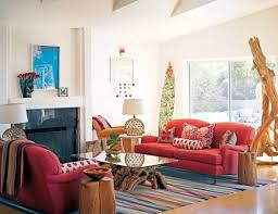 living room decorating ideas with red couch makes room cheerful