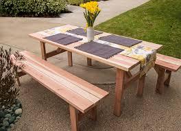 homemade picnic table outdoor patio tables ideas