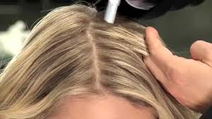 high lighted hair with gray roots root touchup highlight at home blonde color wow youtube