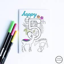 coloring birthday cards kids birthday cards printable 5th birthday cards children u0027s