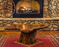 natural oak slab coffee table ponderosa ranch outfitters