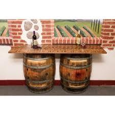 Barrel Bar Table Distressed Finish Pub Tables U0026 Bistro Sets You U0027ll Love Wayfair