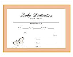 borderless certificate templates baby dedication certificate printable children u0027s ministry ideas