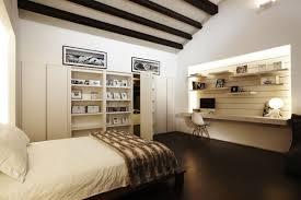 bedroom beams shelves shop house renovation in singapore