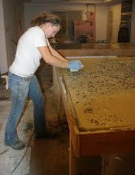 How To Build A Concrete Bar Top Making Diy Recycled Glass Counter Tops Diy Instructions By The