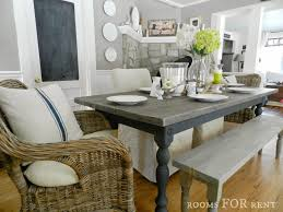 Farm Table With Bench And Chairs Our New Farmhouse Dining Table Rooms For Rent Blog