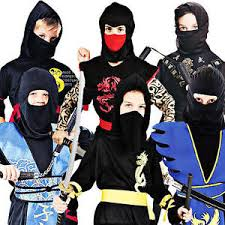 Samurai Halloween Costume Martial Arts Ninja Boys Fancy Dress Japanese Samurai Childrens