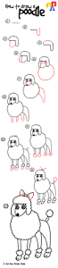 how to draw a poodle art for kids hub poodle drawings and