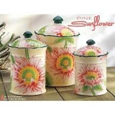 sunflower canisters for kitchen 12 best pink sunflower images on pink sunflowers