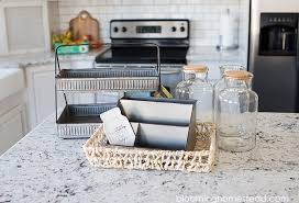kitchen counter organizer ideas kitchen countertop organization ideas blooming homestead