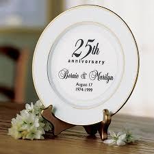 25th anniversary plates personalized personalized anniversary keepsake plate walmart