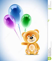 teddy balloons teddy and balloons stock vector illustration of blue 21422585