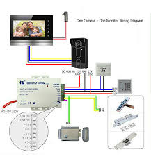 xsl v70k m4 7inch video intercom video door phone doorbell 1