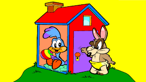 baby road runner and baby wile e playhouse coloring page youtube