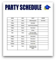 Dinner Party Agenda - graduation party planning