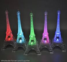 eiffel tower centerpieces led color changing eiffel tower wholesale flowers and supplies