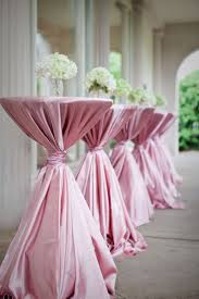 pink color polyester cocktail table cover cloth cocktail