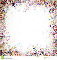 abstract background with colorful music notes stock images image