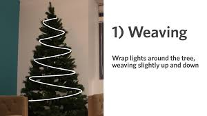 how to put lights on a christmas tree video 3 ways to light the christmas tree porch advice