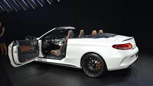 convertible mercedes 2017 presentation of a convertible mercedes amg c63 took place in new