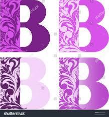 different color purples set four letters b different color stock vector 56125048