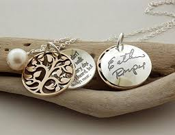 sterling silver handmade necklace images Your loved ones original handwriting custom engraved jpg