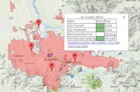 eugene map regional air protection agency or official website