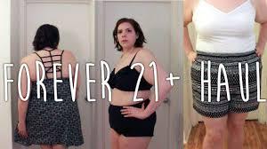 plus size try on forever 21 haul swimwear shorts dresses