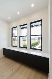 Aluminum Clad Exterior Doors Weather Shiled Windows Jet Black Aluminum Clad Exterior With