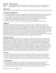 Resume Mechanical Engineering Sample Objectives Of Resume Hr Intern Resume Objective Resume